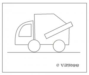 piirustuskuva roska-auto png