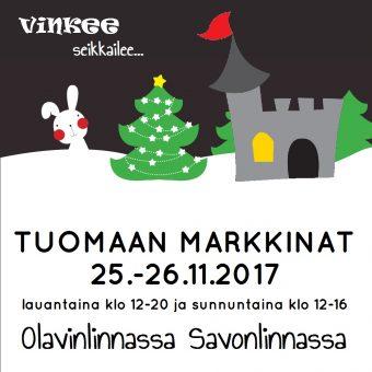 Tuomaan markkinat Olavinlinnassa 25.-26.11.2017